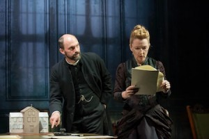 Will Keen (Manders) and Lesley Manville (Helene)